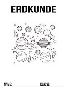 Erdkunde Planeten Ausmalen Deckblatt Zum Ausdrucken Deckblaetter Eu