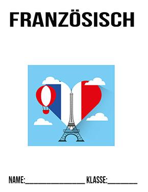 Deckblatt Französisch Ordner