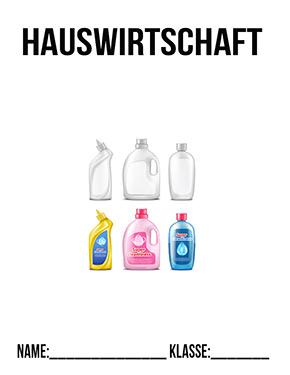 Deckblatt Hauswirtschaft Reinigungsmittel