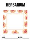 Herbarium Blätter Deckblatt