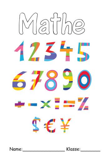 Mathe 8 Deckblatt Deckblätter Schule Ausdrucken