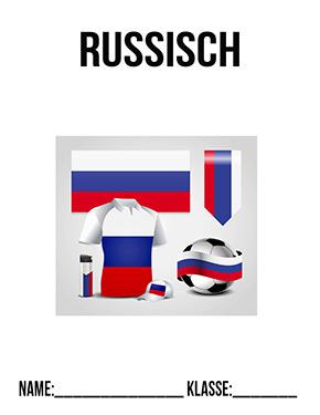 Deckblatt Russisch Fussball