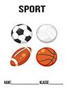 Sport Bälle Deckblatt