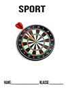 Sport Dartscheibe Deckblatt