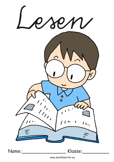Deckblu00e4tter Lesen - Grundschule Schulfu00e4cher