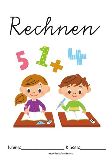 Deckblu00e4tter Rechnen - Grundschule Schulfu00e4cher