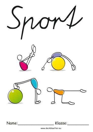 Deckblätter Sport   Grundschule Schulfächer