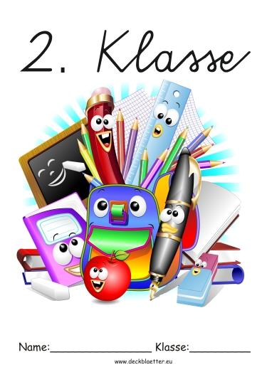 Deckblu00e4tter Zweite Klasse - Grundschule Schulfu00e4cher