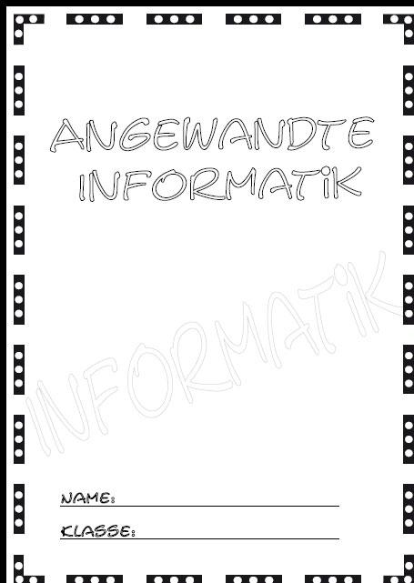 Deckblatt angewandte informatik 2 als pdf ausdrucken