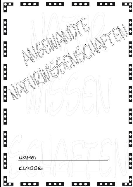 Naturwissenschaften Deckblatt | marlpoint