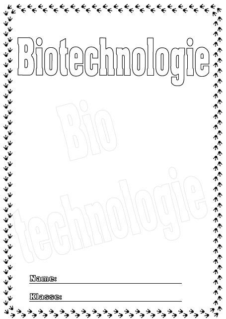 Deckbl tter biotechnologie schule schulfach for Raumgestaltung chinesisch
