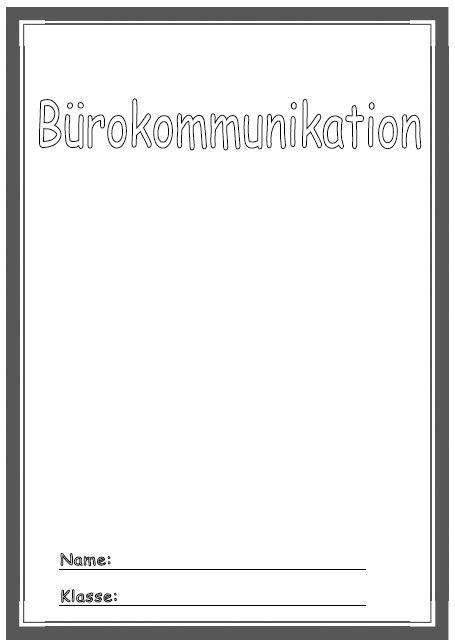 Deckbl tter b rokommunikation schule schulfach for Raumgestaltung chinesisch