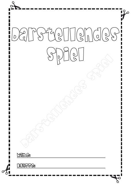 Deckblatt darstellendes spiel als pdf ausdrucken