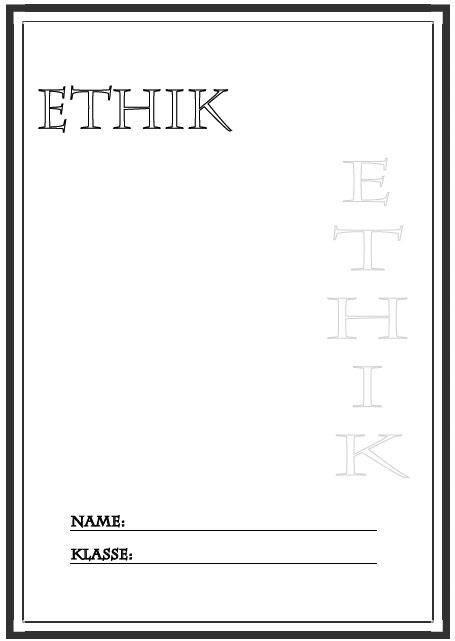 Deckblatt ethik als pdf ausdrucken