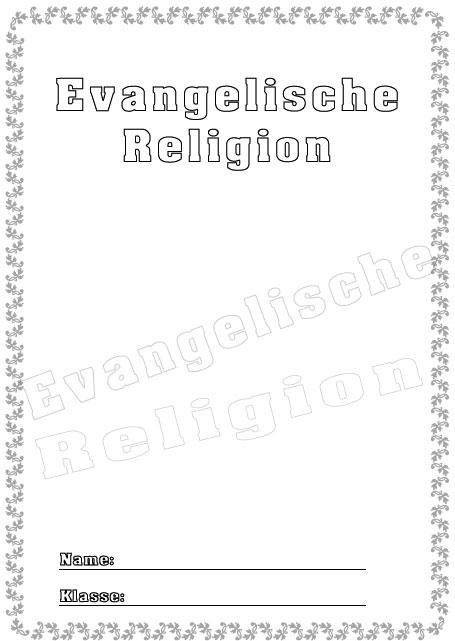 Deckblatt evangelische religion als pdf ausdrucken