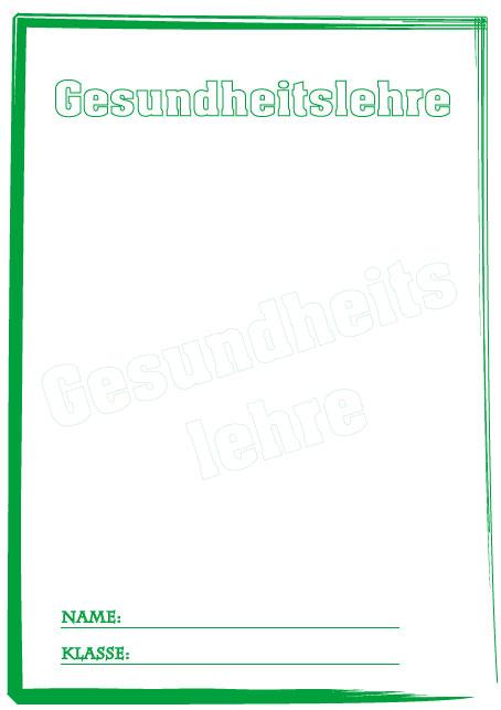 Deckblatt Gesundheitslehre 2