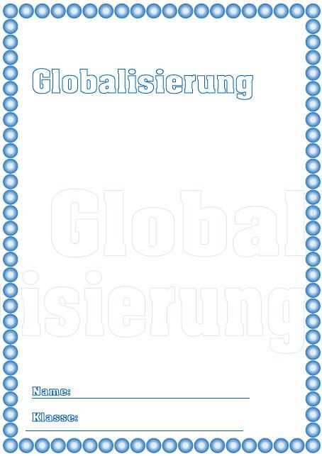 Deckblatt globalisierung als pdf ausdrucken