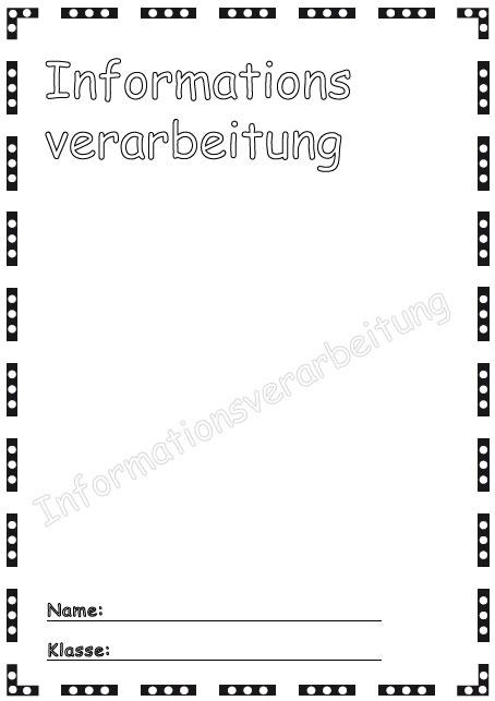 Deckblatt informationsverarbeitung als pdf ausdrucken