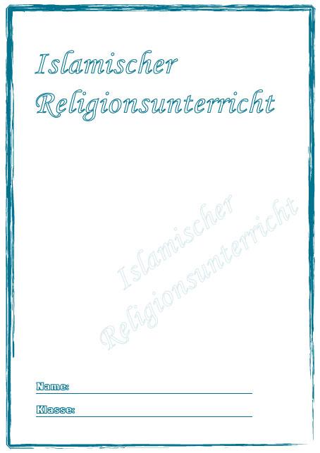 Deckblatt Islamischer Religionsunterricht