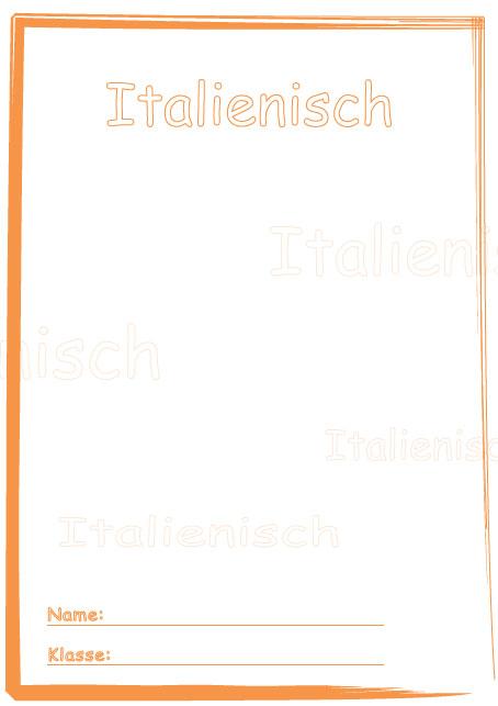 Deckblatt italienisch als pdf ausdrucken