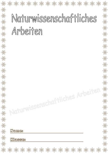 Deckblatt naturwissenschaftliches arbeiten als pdf ausdrucken