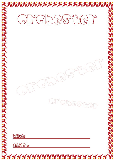 Deckblatt orchester als pdf ausdrucken