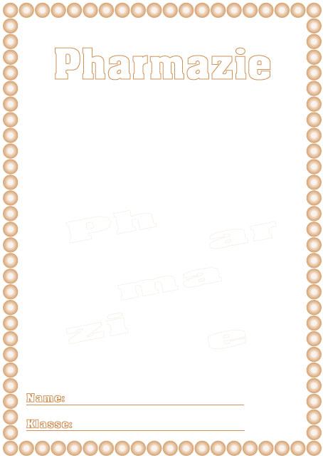 Deckblatt pharmazie als pdf ausdrucken