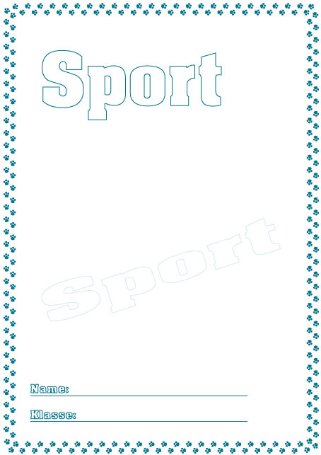 Deckblätter Sport   Schule Schulfach