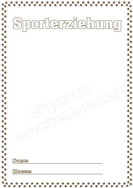 Deckblatt sporterziehung als pdf ausdrucken