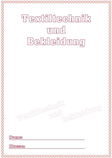 Deckblatt textiltechnik und bekleidung als pdf ausdrucken