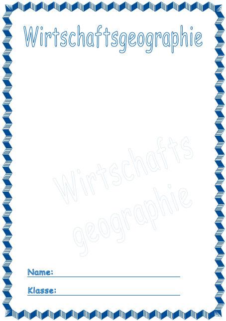 Deckblatt Wirtschaftsgeographie