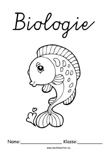Deckblätter Biologie Deckblatt Fisch Biologie Schulfächer
