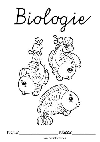 Deckblätter Biologie Deckblatt Fische Biologie Schulfächer