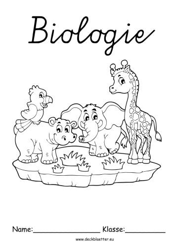 Deckblätter Biologie Tiere Biologie Schulfächer