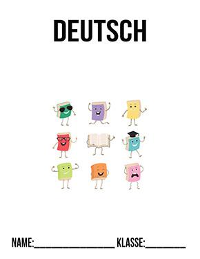 Deckblatt Deutsch 1. Klasse