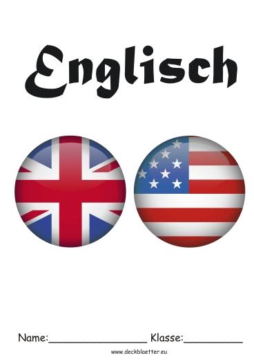 Deckblätter Englisch Englisch Schulfächer