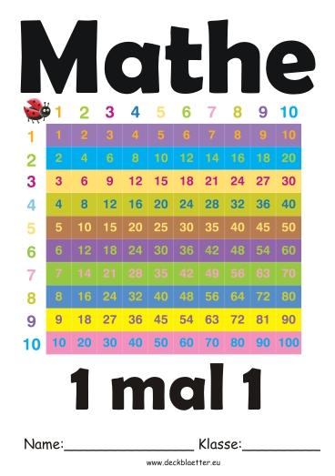 Deckblatt 1mal1