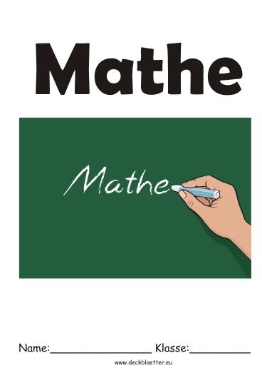 Deckblatt Mathe 1