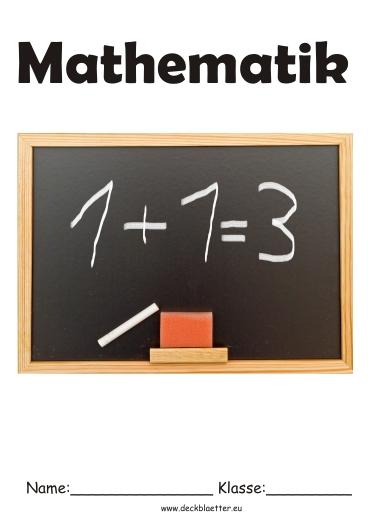 deckblätter mathe 2  mathe schulfächer