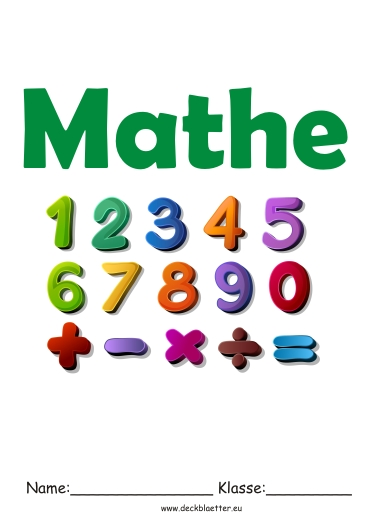 Deckblatt Mathe 4