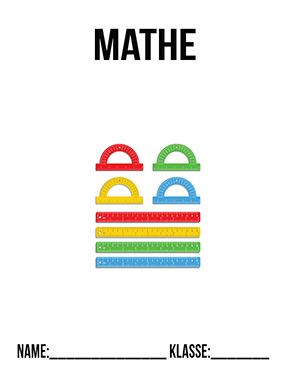 Deckblatt Mathe Lineal