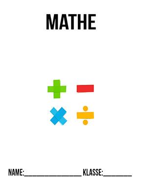 Deckblatt Mathe Rechenzeichen