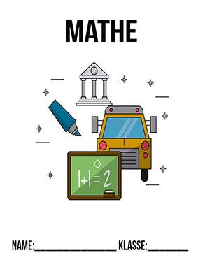 Deckblatt Mathe Tafel