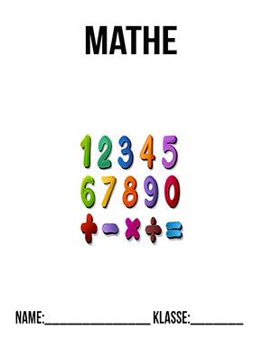 Deckblatt Mathe Zahlen