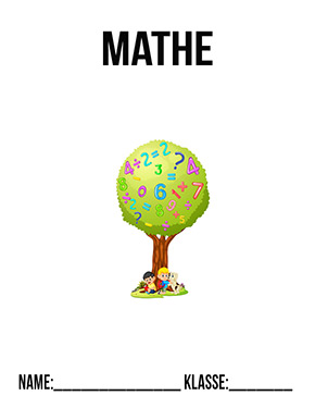 Deckblatt Mathe Zahlenbaum