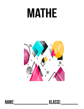 Deckblatt Mathe geometrische Formen