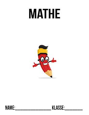 Deckblatt Mathe roter Stift
