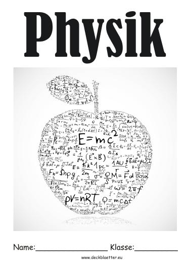Physik deckblatt physik 1 deckblatt schulfach physik deckblatt physik